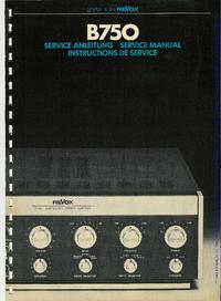 Manual de servicio Revox B750