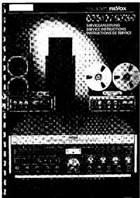 Manual de servicio Revox B739