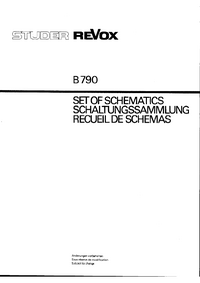 Schaltplan Revox B790