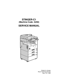 Serviceanleitung Ricoh STINGER-C1 (Machine Code: A250)