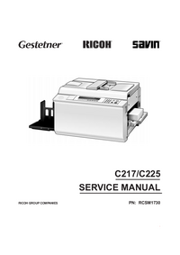 Manual de servicio Ricoh C225