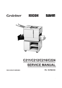 Manual de serviço Ricoh C216