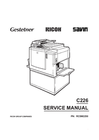 Service Manual Ricoh C226