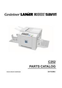 Lista części Ricoh C252