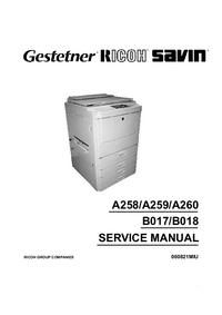 manuel de réparation Ricoh Aficio 4106