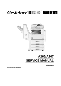 Service Manual Ricoh Aficio 220