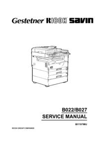 Service Manual Ricoh Aficio 1022