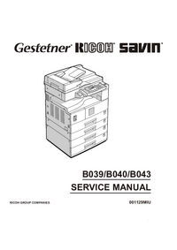 Service Manual Ricoh Aficio 1015