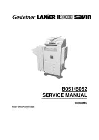 Manuale di servizio Ricoh Aficio 1232C