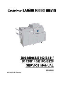 Service Manual Ricoh Aficio 1060