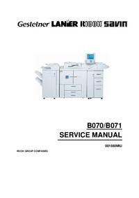 Manuale di servizio Ricoh Aficio 2105