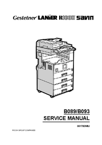 Service Manual Ricoh Aficio 2027