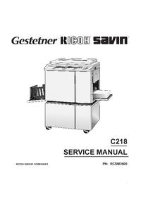 Servicehandboek Ricoh VT3600