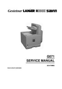 Servicehandboek Ricoh Aficio CL5000