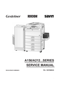 Manual de servicio Ricoh A160