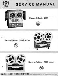 Руководство по техническому обслуживанию Roberts 400X