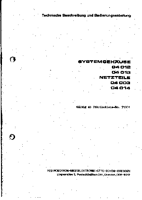 User Manual with schematics Robotron 04014