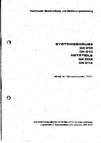 Manuale d'uso, Cirquit Diagramma Robotron 04014