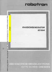 User Manual with schematics Robotron 03004