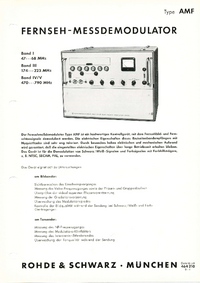 Datenblatt RohdeUndSchwarz AMF