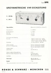 Технический паспорт RohdeUndSchwarz DPR