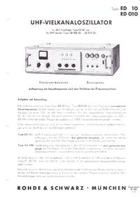 Dane techniczne RohdeUndSchwarz ED 10