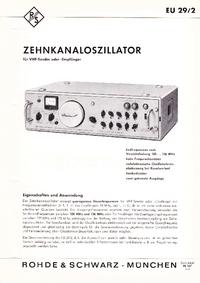 Fiche technique RohdeUndSchwarz EU29/2