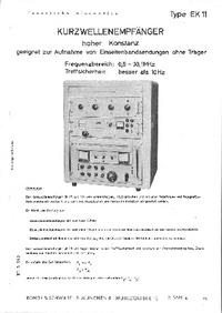 folha de dados RohdeUndSchwarz EK 11