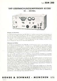 folha de dados RohdeUndSchwarz ESM 300