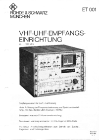 Datasheet RohdeUndSchwarz ET 001