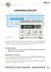 Hoja de datos RohdeUndSchwarz FEG 2