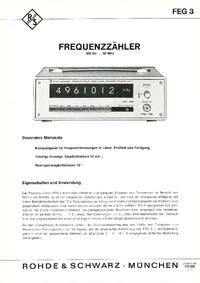 Hoja de datos RohdeUndSchwarz FEG 3