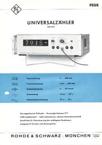 Hoja de datos RohdeUndSchwarz FEGR