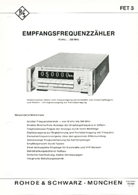 Hoja de datos RohdeUndSchwarz FET 3