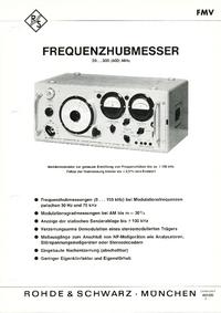 Hoja de datos RohdeUndSchwarz FMV