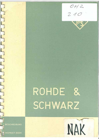 User Manual with schematics RohdeUndSchwarz NAK 10