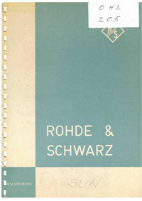 User Manual with schematics RohdeUndSchwarz SUN