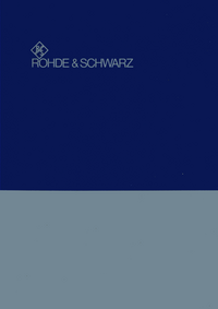 Service and User Manual RohdeUndSchwarz SWOB 100.5226.