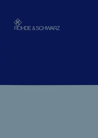 Servicio y Manual del usuario RohdeUndSchwarz SWOB 100.5226.