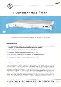 Технический паспорт RohdeUndSchwarz BN 13602
