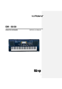 Руководство пользователя Roland EM-50