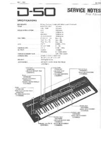manuel de réparation Roland D-50
