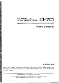 Bedienungsanleitung Roland Super LA D-70