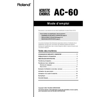 Manual del usuario Roland AC-60