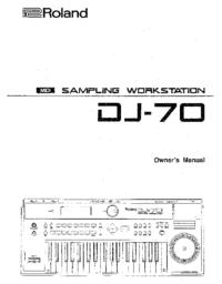Manuel de l'utilisateur Roland DJ-70