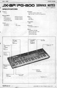 Instrukcja serwisowa Roland JX-8P