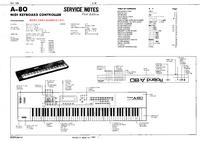 Manuale di servizio Roland A-80
