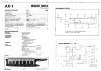 manuel de réparation Roland AX-1