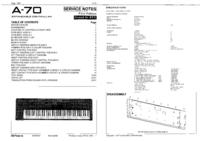 Manuale di servizio Roland A-70