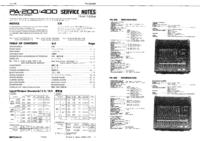 Manuale di servizio Roland PA-200